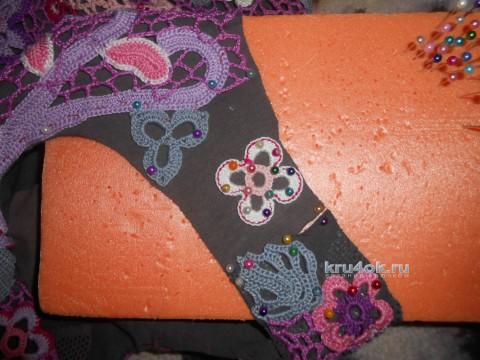 Туника для девочки в технике ирландского кружева вязание и схемы вязания
