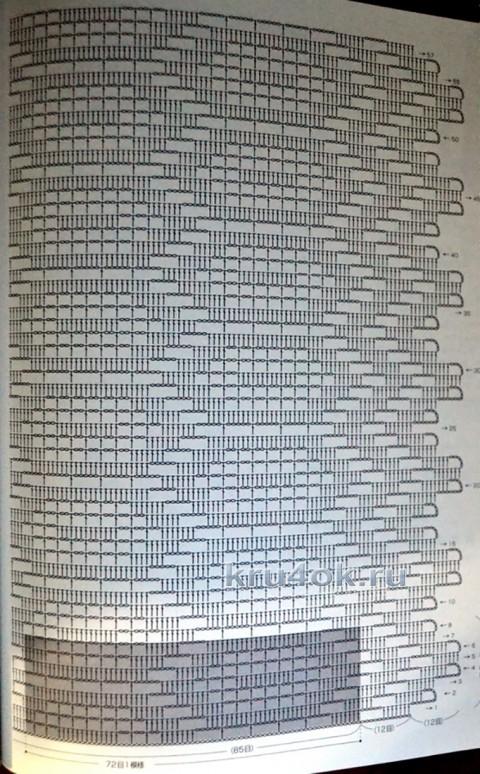 Туника Лазурная роскошь. Работа Аллы вязание и схемы вязания