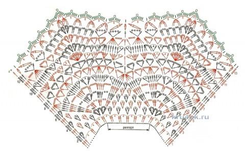 Воротник крючком. Работа Татьяны вязание и схемы вязания