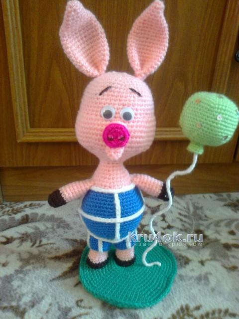 Вязаная игрушка Пятачок. Работа Тамары вязание и схемы вязания