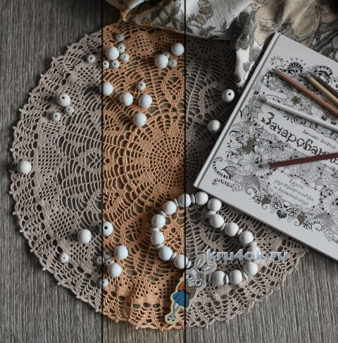 Вязаная крючком салфетка. Работа Валентины Касаткиной вязание и схемы вязания