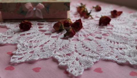 Вязаная салфетка. Работа Валентины Касаткиной вязание и схемы вязания