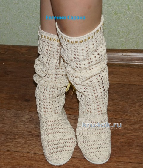 вязаная обувь крючком схемы вязания тапочек сапожек пинеток