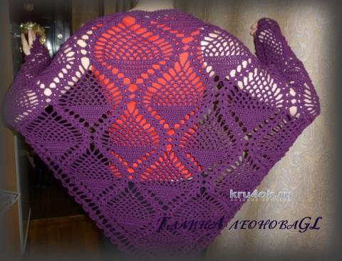 Вязаные шали с вязанием