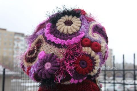 Вязаный берет. Работа Светланы Шевченко вязание и схемы вязания