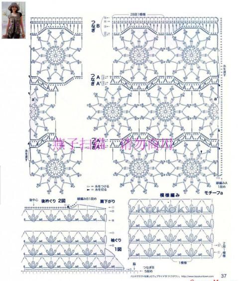 Вязаный шазюбль Византия. Работа Елены вязание и схемы вязания