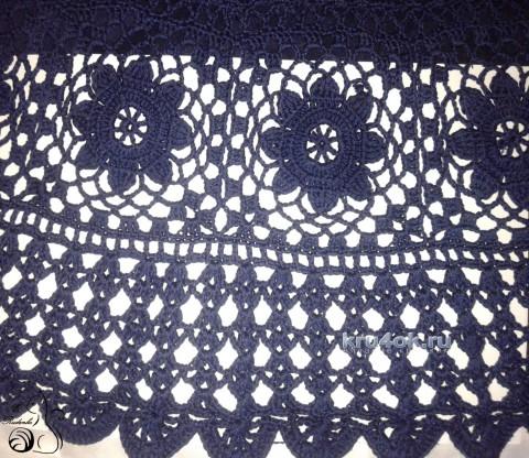 Юбка Ночное небо. Работа Евгении Руденко вязание и схемы вязания