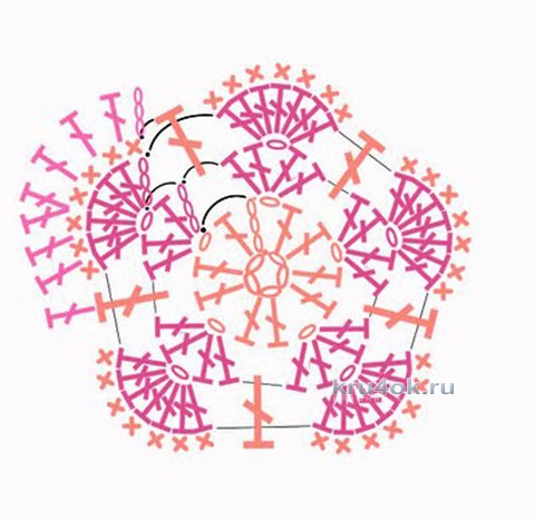 Бегемот из мотивов Африканский цветок крючком. Работа Ксении вязание и схемы вязания