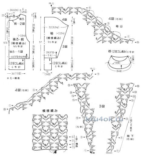 Белоснежная кофта крючком. Работа Эльвиры Вязаловой вязание и схемы вязания