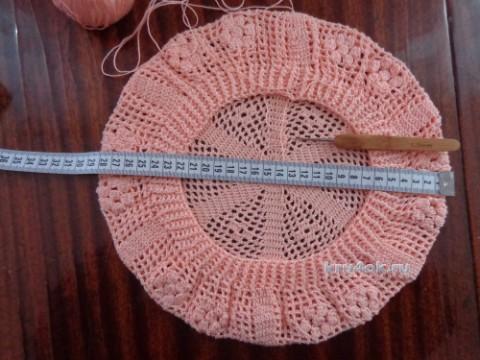 Берет крючком. Работа Надежды Лавровой вязание и схемы вязания