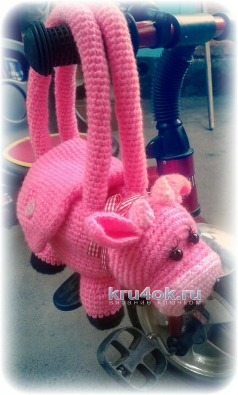 Детская сумка Коровка. Работа Екатерины вязание и схемы вязания