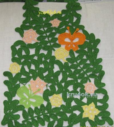 Комплект для девочки. Работа Алёны Филимоновой вязание и схемы вязания