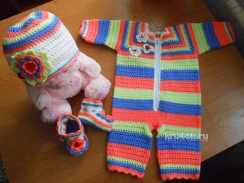 Комплект для девочки. Работа Галины Лукериной вязание и схемы вязания