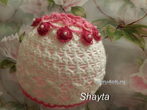 Летняя шапочка Полина. Работа Оксаны Усмановой вязание и схемы вязания