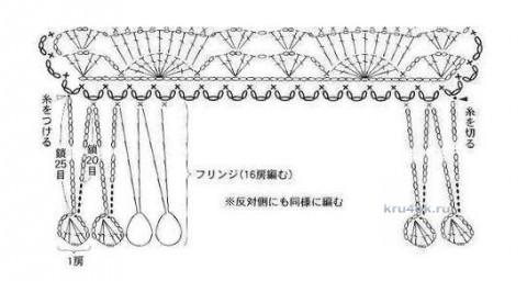 Палантин вязаный крючком. Работа Галины Леоновой вязание и схемы вязания
