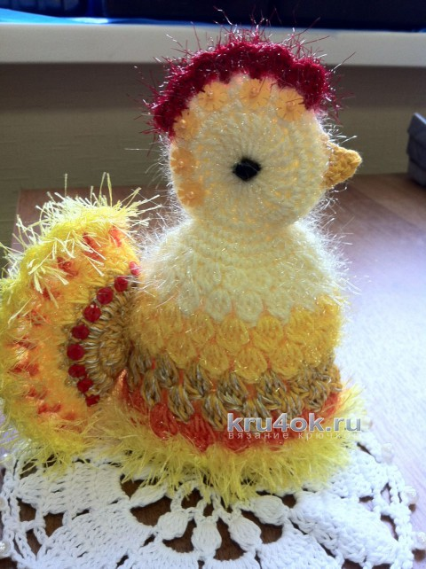 Пасхальная курочка. Работа Надежды Борисовой вязание и схемы вязания