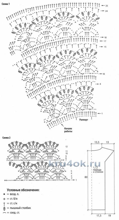 Платье от Эльвиры Вязаловой вязание и схемы вязания