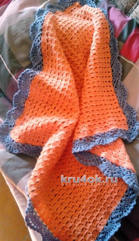 Плед крючком. Работа Натальи вязание и схемы вязания