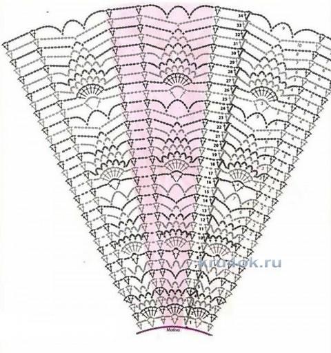 Пончо крючком. Работа Любавы вязание и схемы вязания