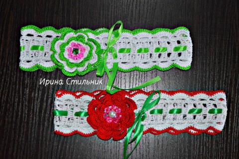 Повязка на голову для девочки. Работы Ирины Стильник вязание и схемы вязания