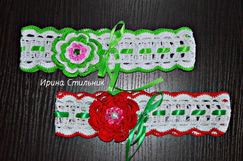 Вязанье повязки для девочки