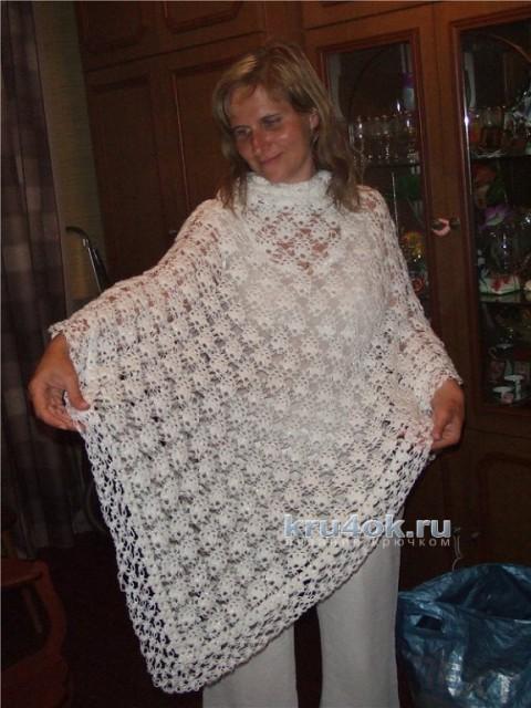Шаль Белое кружево. Работа Ольги вязание и схемы вязания