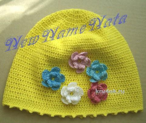 Шапочка Весеннее настроение. Работа NewNameNata вязание и схемы вязания