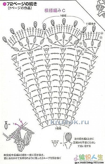Свитер с ажурной кокеткой. Работа Елены вязание и схемы вязания