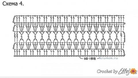 Туника для девочки крючком схемы ажурного вязания
