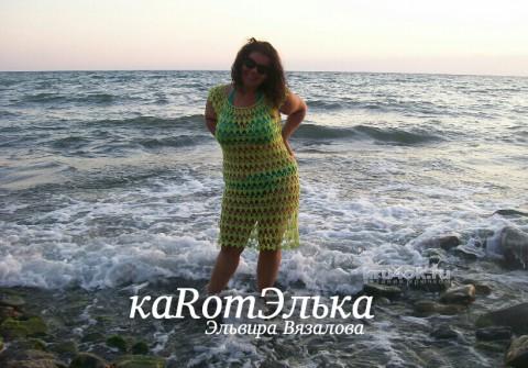 Туника на лето от Эльвиры Вязаловой вязание и схемы вязания