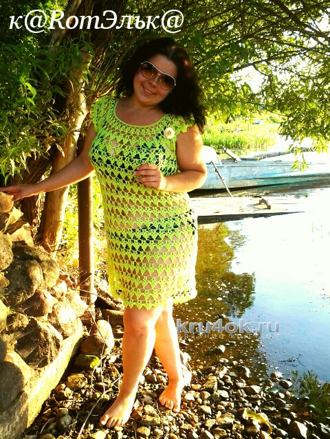 Пляжное платье на лето от Эльвиры Вязаловой