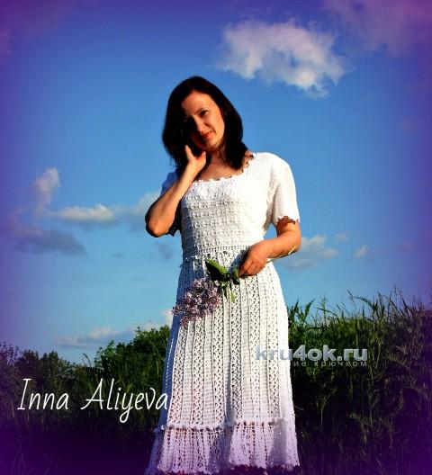Вязаное платье Антония. Работа Inna Aliyeva вязание и схемы вязания