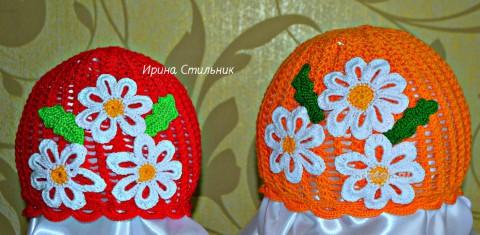 Вязаные детские шапочки. Работы Ирины Стильник вязание и схемы вязания