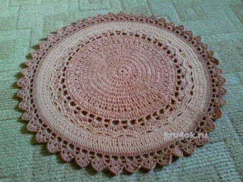 Вязаный крючком коврик. Работа Ольги вязание и схемы вязания