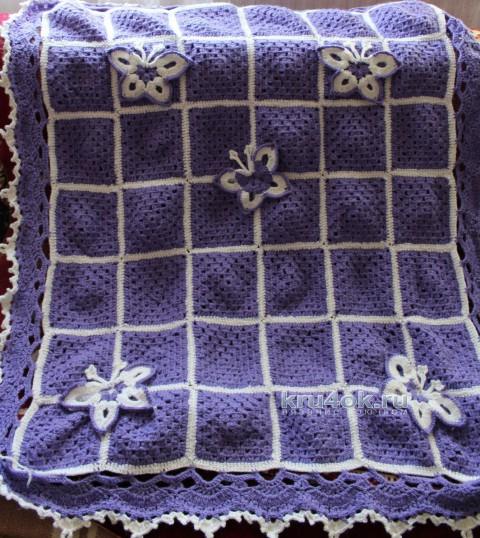 Вязаный крючком плед. Работа Надежды вязание и схемы вязания