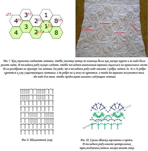 Вязаное крючком платье. Работа Галины вязание и схемы вязания