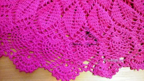 Ажурное платье для девочки. Работа Марины вязание и схемы вязания