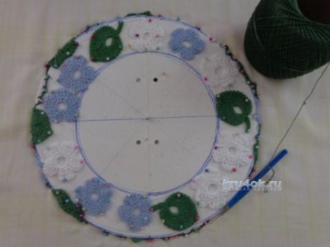 Берет в стиле ирландского кружева. Работа Надежды Лавровой вязание и схемы вязания