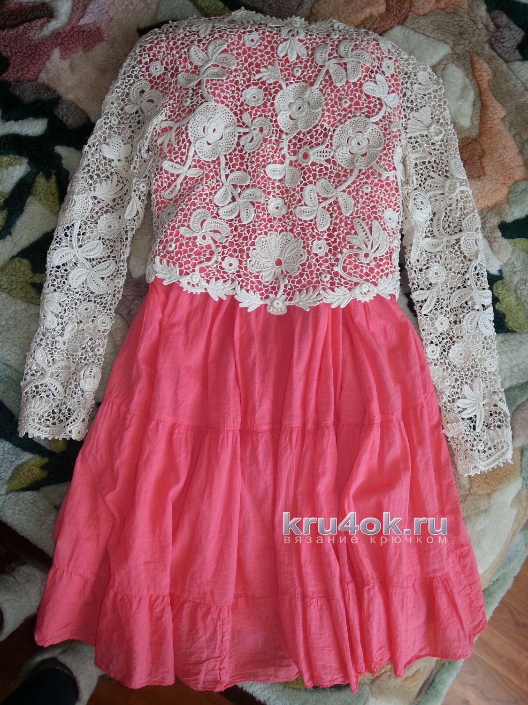 Ирландское кружево платье комбинированное 187
