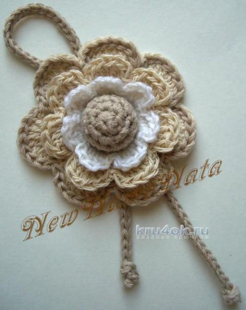 Цветочек крючком. Работа NewNameNata вязание и схемы вязания