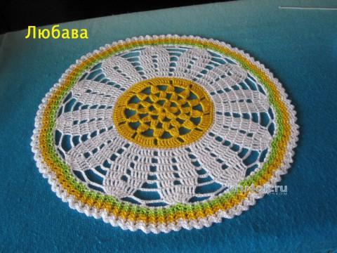 Комплект десертных салфеток. Работа Любавы вязание и схемы вязания