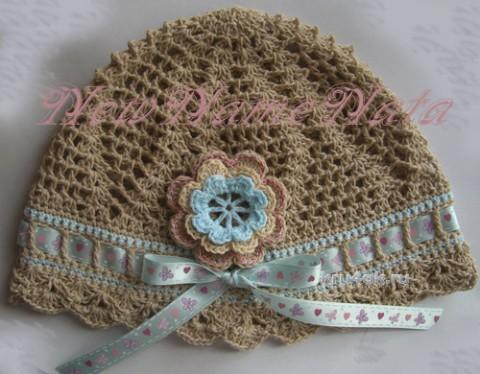 Летняя шапочка для девочки. Работа NewNameNata вязание и схемы вязания