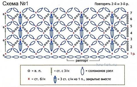 Палантин Нежные петельки. Работа Ольги вязание и схемы вязания