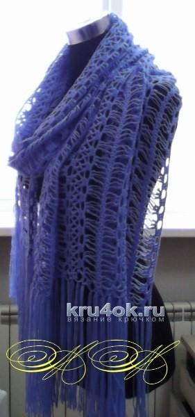 Палантины, связанные на вилке. Работы Марины Михайловны вязание и схемы вязания