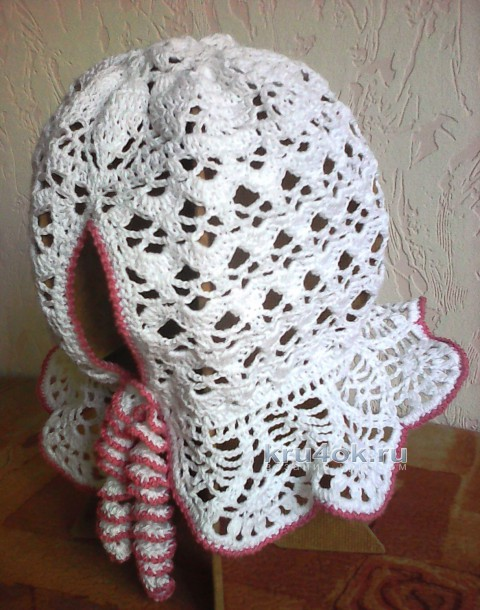 Панамка для девочки с застежкой для хвостика вязание и схемы вязания