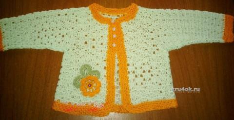 Платье и болеро для девочки. Работа Марины Михайловны вязание и схемы вязания