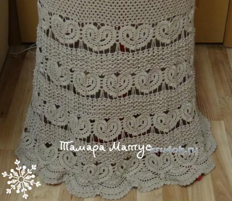 Платье Песочное сердце. Работа Тамары Матус вязание и схемы вязания