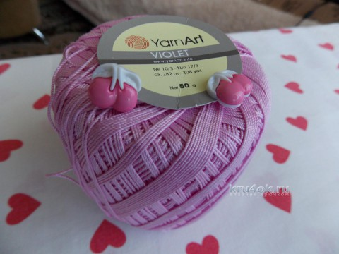 Платье Розовая лилия. Работа Натальи Авдохиной вязание и схемы вязания