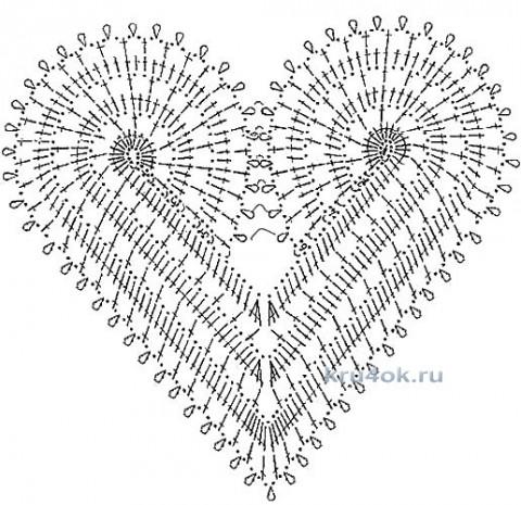 Платье Сердечное. Работа Эльвиры Вязаловой вязание и схемы вязания