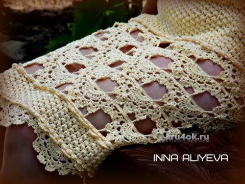 Платье Золотые пески. Работа Inna Aliyeva вязание и схемы вязания